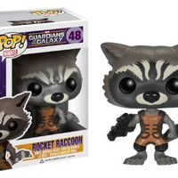 Funko POP Marvel: Guardians of The Galaxy - Rocket Raccoon Vinyl Bobble-Head Figure by Funko