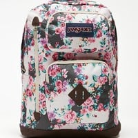 JanSport Austin Floral Flourish School Backpack - Womens Backpack - Gray - One