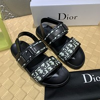 Dior Popular Summer Women's Flats Men Slipper Sandals Shoes
