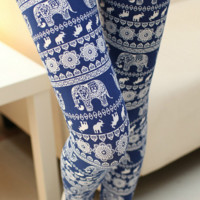 Elephant Printed Leggings