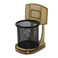 1Piece DIY Office Basketball Stand Pen Holder Pencil Holder Table Decoration For Basketball Fans