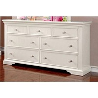 Exceptionally Fine Lined Wooden Dresser, White By Casagear Home