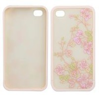 Snap-on Hard Pink Flower Skin Case Cover for Apple iPhone 4 4G