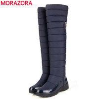 keep warm snow boots fashion platform fur thigh knee high boots warm winter boots for women shoes boats