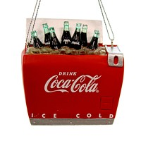 Holiday Ornaments COCA-COLA BOTTLES IN COOLER Polyresin Christmas Chest Cc2159