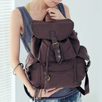Freeship Womens Canvas Backpack Schoolbag Satchel Bookbag Rucksack Shoulder Bags