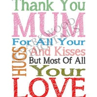 Mum Printable Mothers Day Or Birthday Digital Download