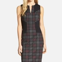 Women's NYDJ 'Aubrey' Colorblock Plaid Sheath Dress ,