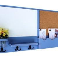 Mail Organizer - Cork - White Board - Message Center - Coat Rack