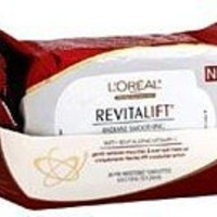 L'Oreal Paris RevitaLift Radiant Smoothing Wet Cleansing Towelettes, 5.9 X 7.9inch-30 Count