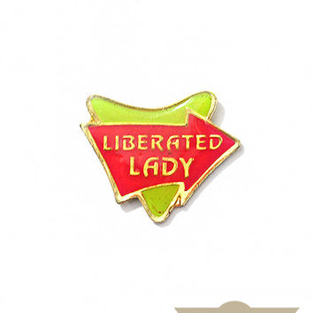Liberated Lady Vintage Pin