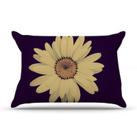 "Robin Dickinson ""Half Crazy"" Black Yellow Pillow Case"