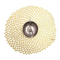 Pressed Dahlia Placemat S/4 | Gold