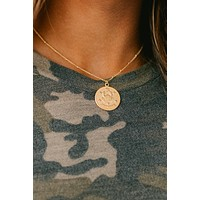 Cancer Coin Necklace (Gold)