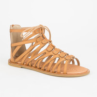Bamboo Impart Womens Sandals Cognac  In Sizes
