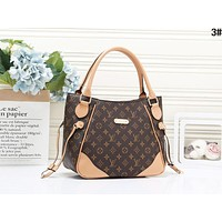 LV Louis Vuitton Newest Fashionable WomenLeather Handbag Tote Shoulder Bag Apricot