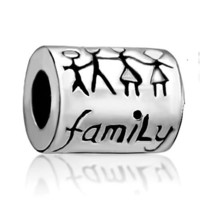 """Silver Plated """"family"""" Bead Fit Pandora Charms"""