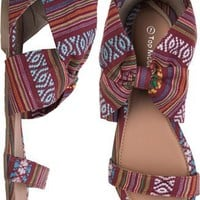 MEXI BLANKET ANKLE WRAP SANDAL | Swell.com