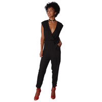 Wrap Jumpsuit with Pocket Detail