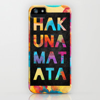 Hakuna matata iPhone & iPod Case by Elisabeth Fredriksson