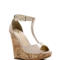 Sale- Natural Beauty Patent Leather Wedge