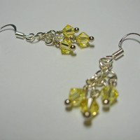 Simply Swarovski Earrings (yellow)