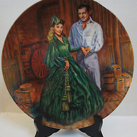 Knowles Plate 1984 Gone with the Wind Collection 7th Issue Scarletts Green Dress