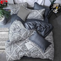 Cool Sookie 3/4pcs Bedding Set Pink Blue Geometric Bedding Duvet Covers Pillowcases Fashion King Queen Size Bed Set for Home DecorAT_93_12