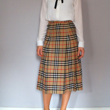 Vintage Burberry Skirt Extra Small