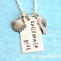 California Girl Necklace by youregonnalovethis on Etsy