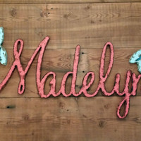 PERSONALIZE your name or any word Wood rustic shabby chic finish home decor wedding wall hanging gift shower last name photo prop custom