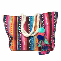 ATX Mafia Fiji Turquoise & Orange Multi Color Tote