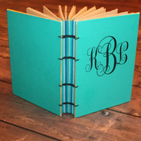 Custom Monogrammed Journal, Personalized Guest Book, Graduation Gift, Mothers Day Gift