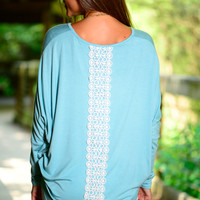 Set Me Free Top, Light Blue