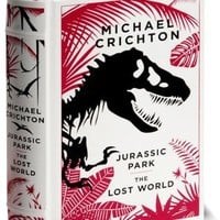 Jurassic Park/The Lost World (Barnes & Noble Leatherbound Classics)