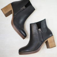 Richmond Wooden Heel Bootie
