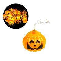 3.8m Stylish Creative Waterproof 16 LED Jack Olantern Pumpkin String Lights Battery Operated for Christmas Halloween Decoration