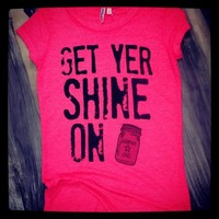 "Southern Charm ""Shine On"" Burnout Neon Pink from SouthernCharmWear"
