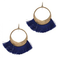 Big Fringe Dangle Earrings