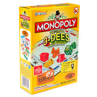 Monopoly 3-Dees Fruit Snack Packs: 10-Piece Box
