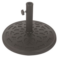 30 lb Free Standing Sturdy Outdoor Resin Umbrella Base in Grey Black Finish