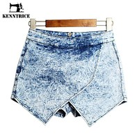 Summer Punk Jeans Women Denim Shorts High-wasted Shorts Jeans  Sexy Women Denim Shorts Jeans