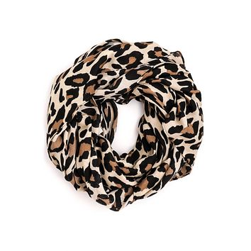 Essential Leopard Scarf - Ivory