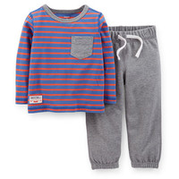 2-Piece Jersey Top & French Terry Pant Set