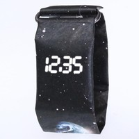 Fashion Creative Paper Digital Watch Men Wrist Watch Waterproof Electronic Watches LED Men's Watch Clock reloj hombre 2018