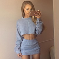 2 Layers Two Piece Set Summer 2 piece Set Women Conjunto Feminino Women Crop Top And Skirt Set Two Piece Outfits Matching Sets