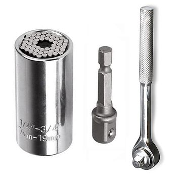 7-19mm Universal Socket Wrench Tools Kit
