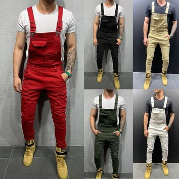 Men's Long Pants Tie-dyed Trousers Jeans Overalls