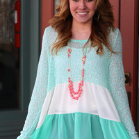 Beautiful Day Top {Mint}