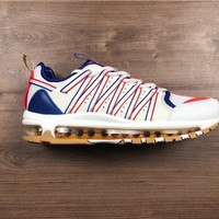 HCXX N1173 CLOT x Nike Air Max 97 Zoom Haven Running Shoes White Blue Red